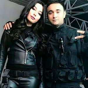 Асал Шодиева с мужем